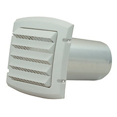 Provent Intake Hood White 4 inch