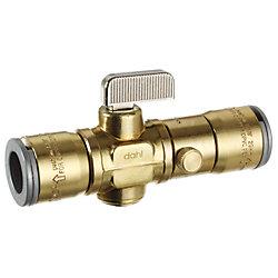 Dahl 1/2 QUICK-GRIPMC x 1/2 QUICK-GRIPMC avec drain, Droit, Laiton, Grand débit