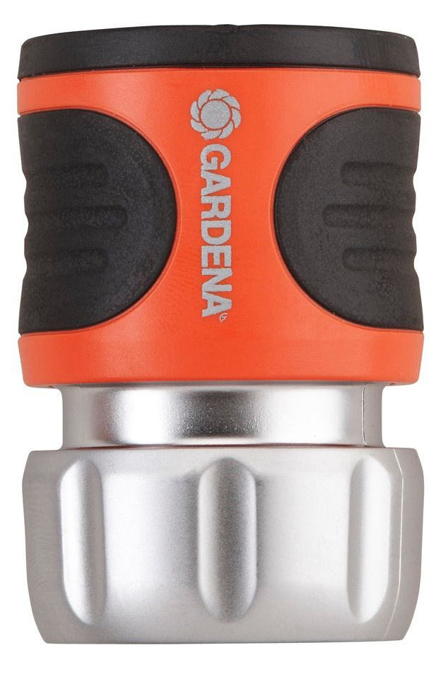 GARDENA Premium Metal Accessory Hose End Male Connector with Waterstop