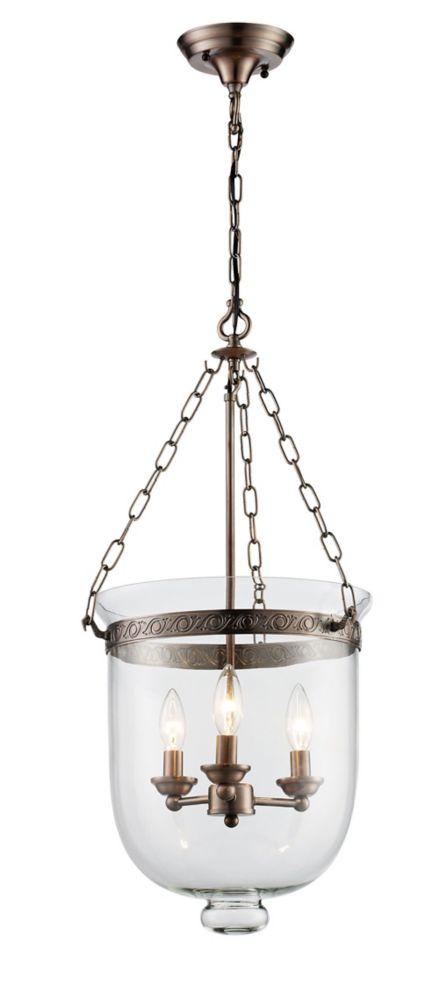 hampton bay 38 1cm luminaire suspendu fini bronze enrober home depot canada. Black Bedroom Furniture Sets. Home Design Ideas