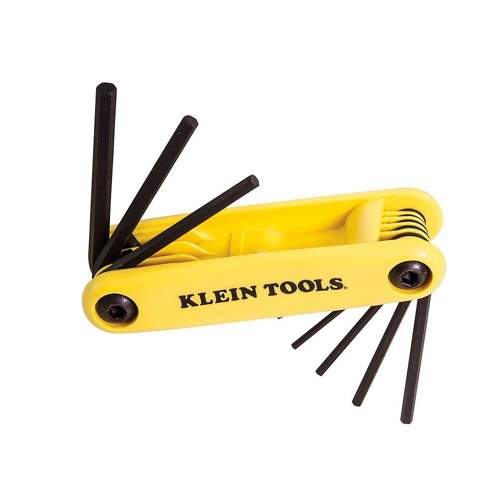 Klein Tools Jeu de 9clés hexagonales Grip-It coupées à l'équerre