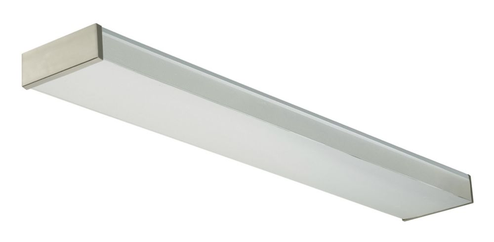 4 Ft. T8 2L Wraparound / With Brushed Nickel Ends