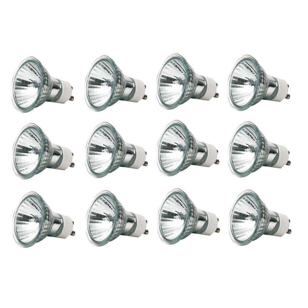 50 Watt Halogen GU10 Flood Bulb - 12 Pack