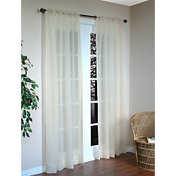 Habitat Shatter Pair Curtain, Ivory - 96 Inches X 84 Inches Pr