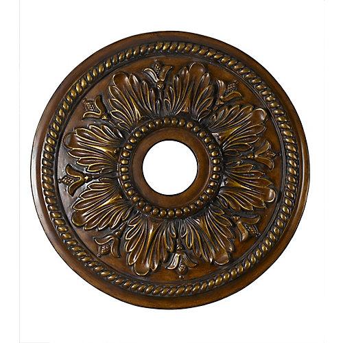 45,72 Medallion, fini Bronze Antique