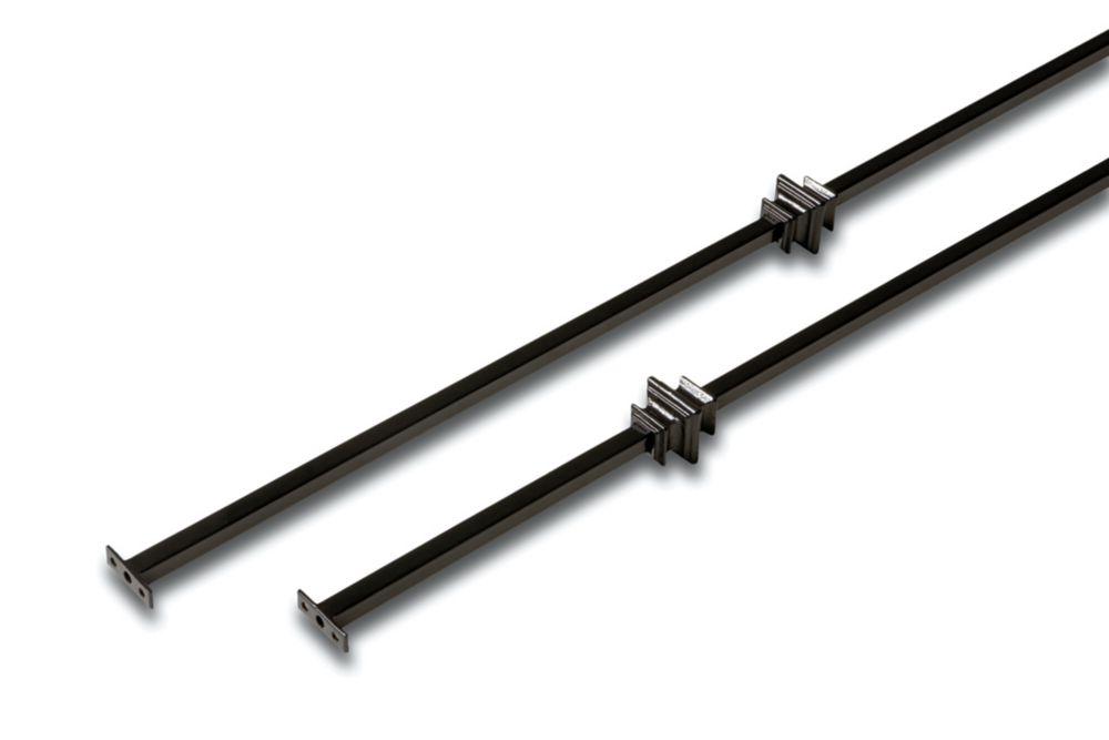Ens. de balustres bouclés pour vestibule, en fer forgé - 1/2 x 1/2