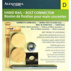 Alexandria Moulding Rail-Bolt Fastener