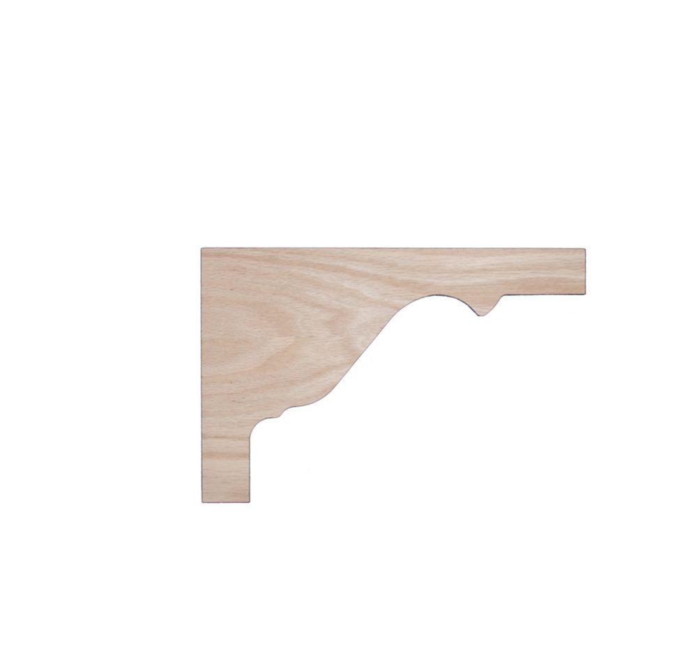 Oak Tread Bracket 1/4 In. x 8-1/8 In. x 12-1/4 In.