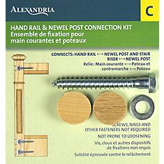 alexandria moulding fixation pour poteau de pilastre et main courante home depot canada. Black Bedroom Furniture Sets. Home Design Ideas
