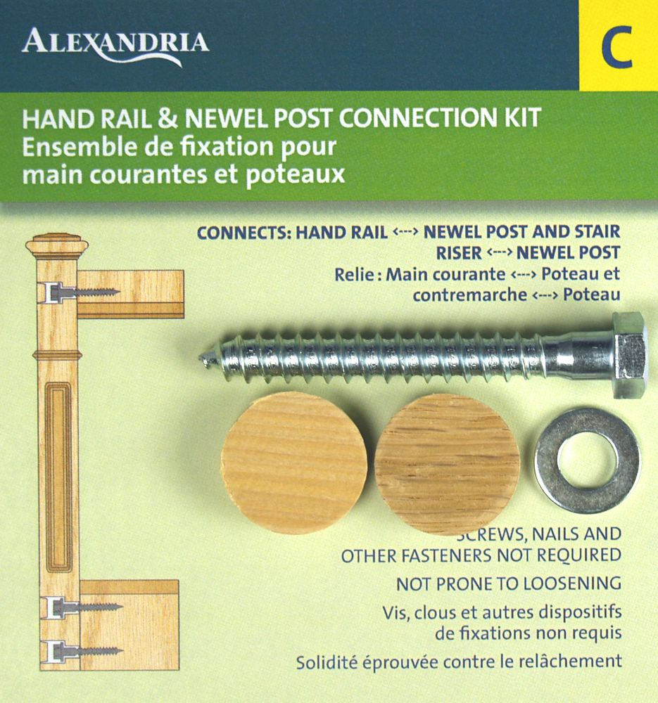 Alexandria Moulding Rail And Post Fastener