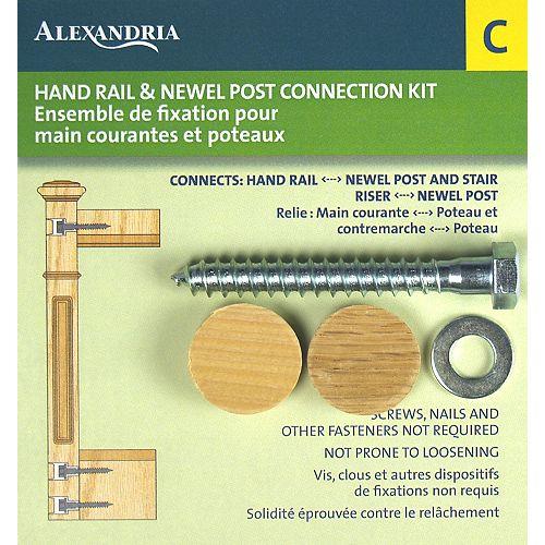 Alexandria Moulding 1-inch x 1-inch x 3 1/2-inch Hand Rail & Newel Post Fastener