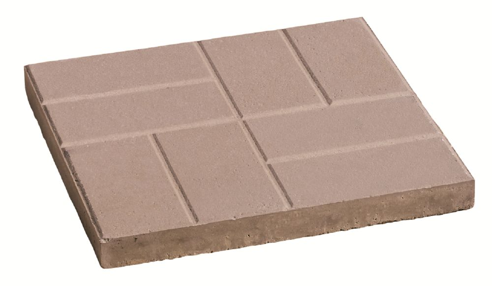 Brick Pattern 24-inch x 24-inch Slab in Grey