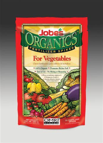 Jobe's Organic Vegetable Fertilizer Spike