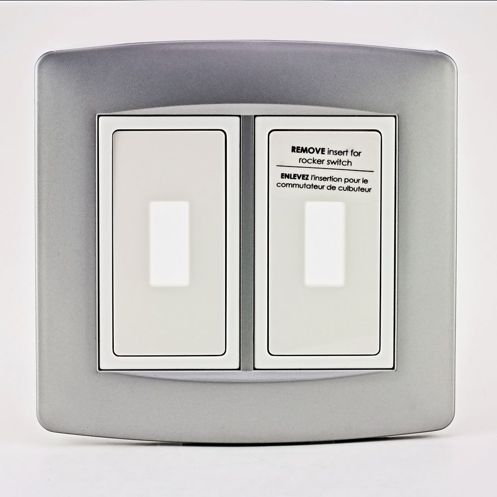 Retro-Fit Electrical Switch Plate Kit-Aluminum, 2-Gang 711147 Canada Discount