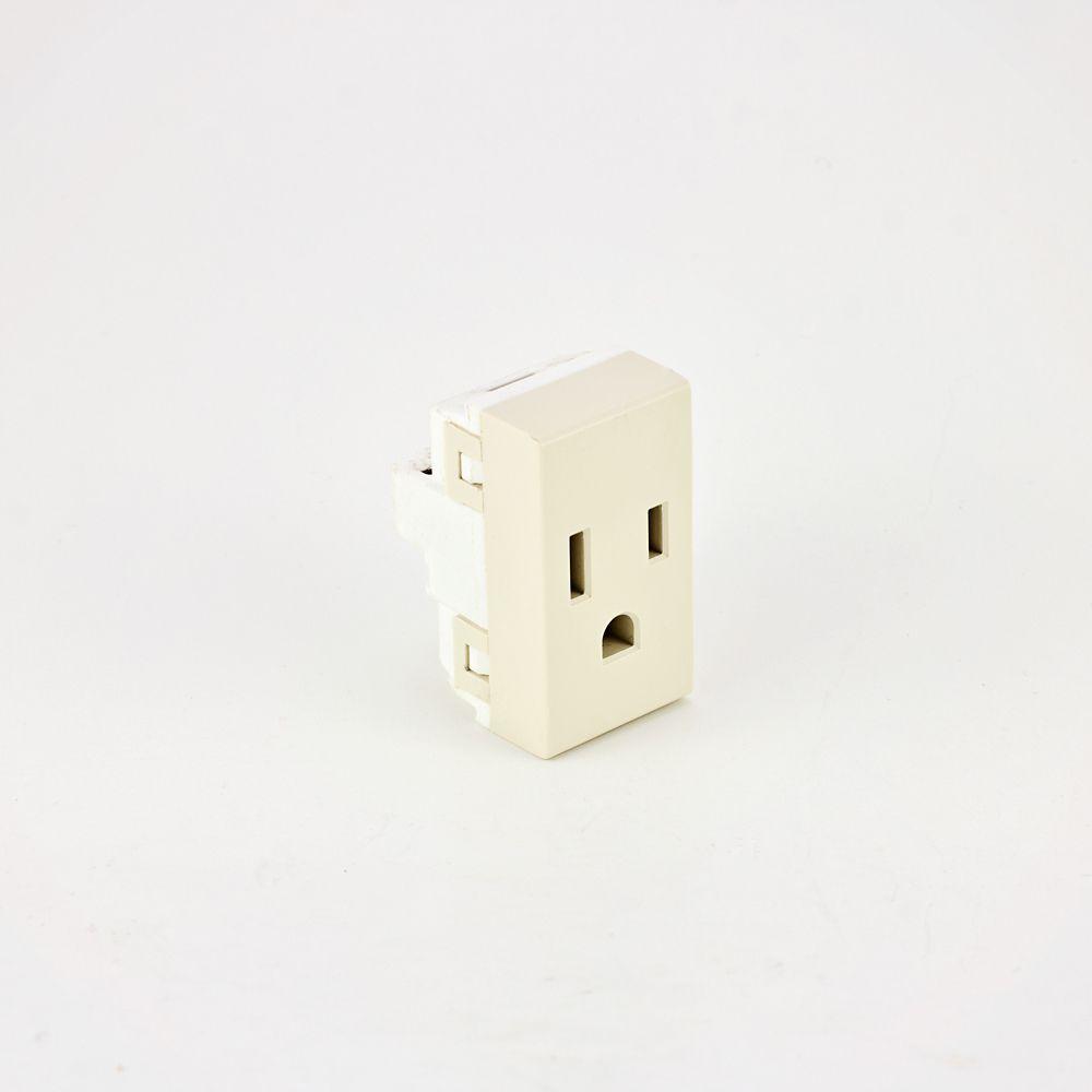 Euro Loft Modular Electrical Switch Plate Kit- Standard Receptacle - Ivory