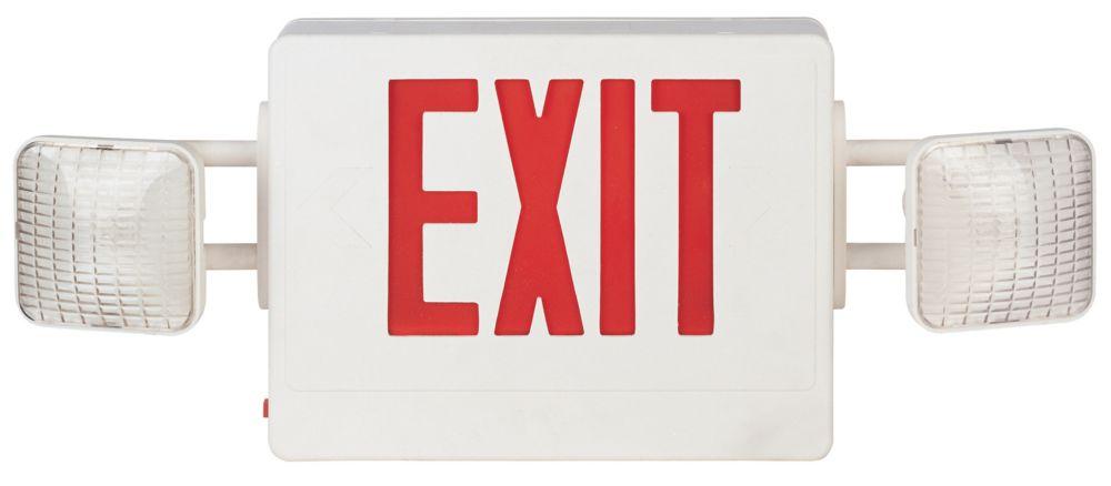 hampton bay economy combo exit sign emergency light