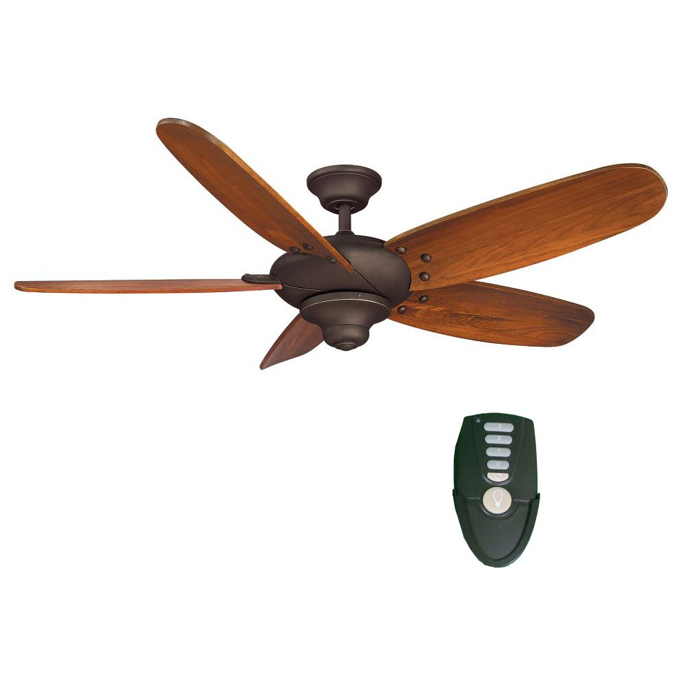 Hampton Bay Altura 56-inch Indoor Oil-Rubbed Bronze Ceiling Fan with Walnut-Finish Blades and Remote Control