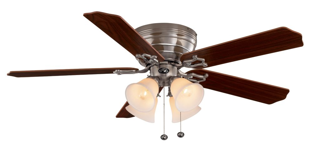 Carriage House Brushed Nickel Ceiling Fan -  52 Inch