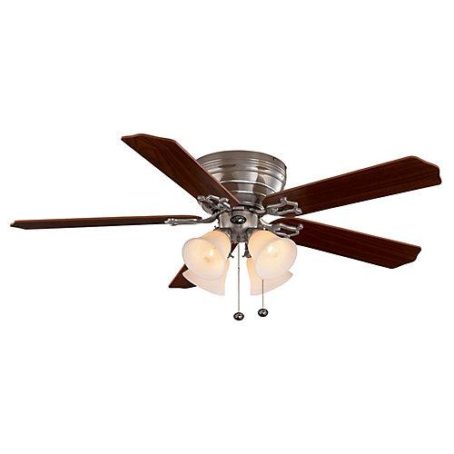 Hampton Bay Carriage House Brushed Nickel Ceiling Fan 52 Inch