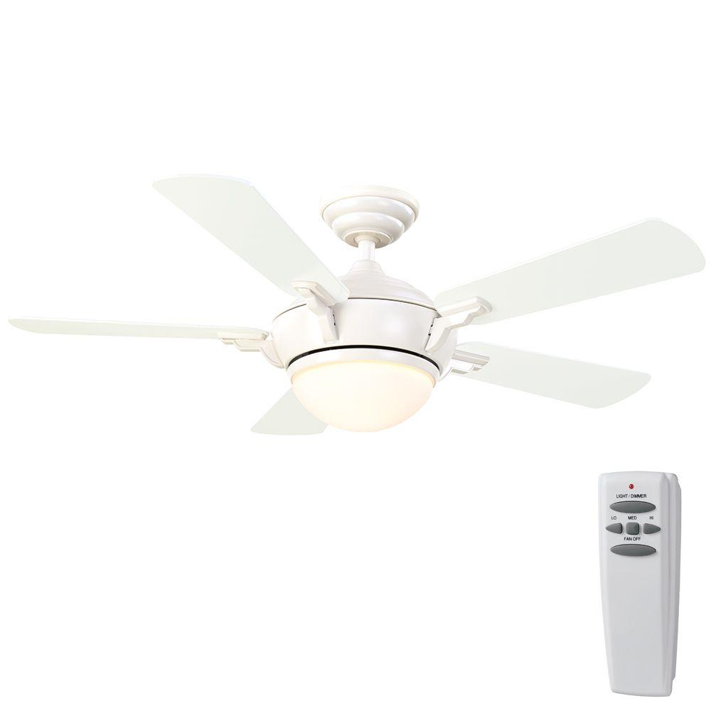 Midili White Ceiling Fan - 44 Inch