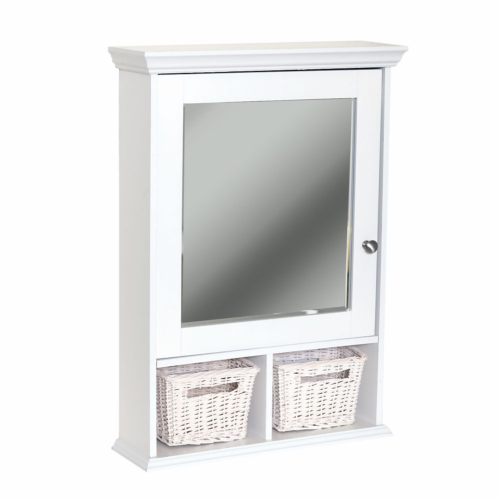 Zenith products armoire pharmacie murale de type casier blanche home depot canada - Armoire pharmacie murale ...