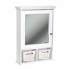 Wall Cubby Medicine Cabinet - White