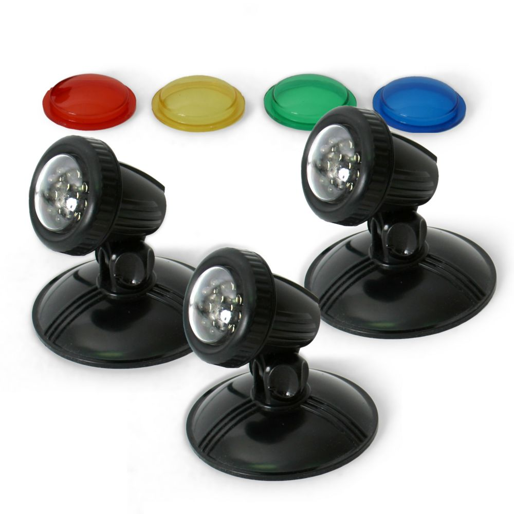 Algreen TripleGlo Submersible Light Kit for Ponds, Water Features and Water Gardening