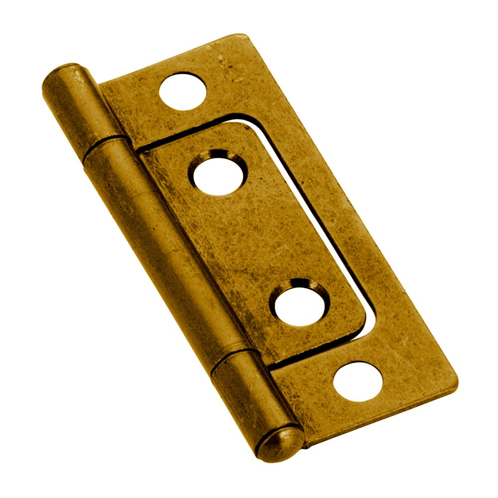 Hinge n/mortise 2 In. - antique brass