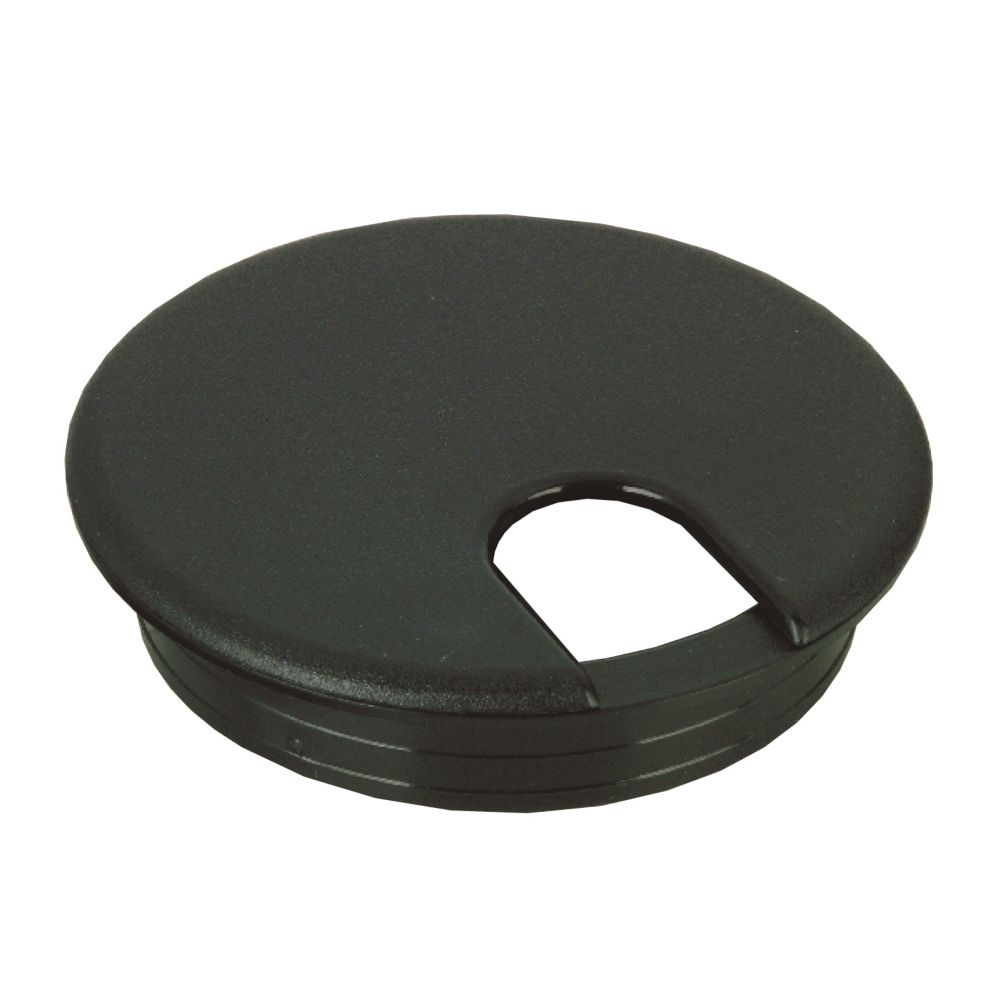 Richelieu wire grommet 3 1 2 in black the home depot for 3 furniture grommet