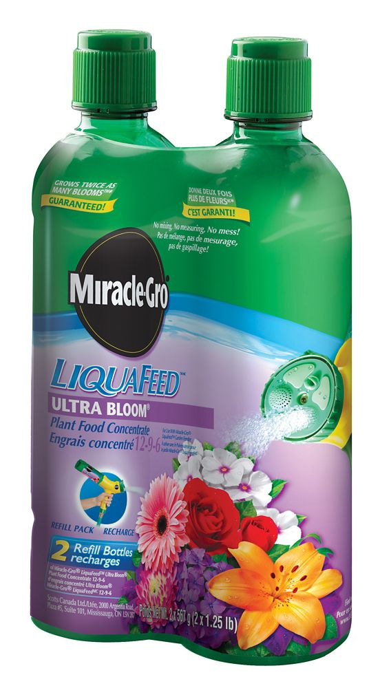 Miracle-Gro LiquaFeed Ultra Bloom - Emballage de 2 recharges