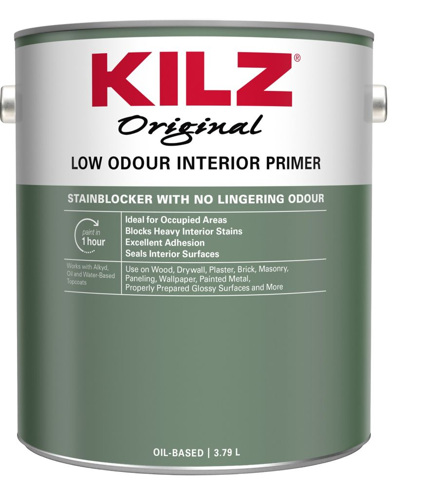 Odourless Interior Primer, Sealer, Stainblocker - 3.79L