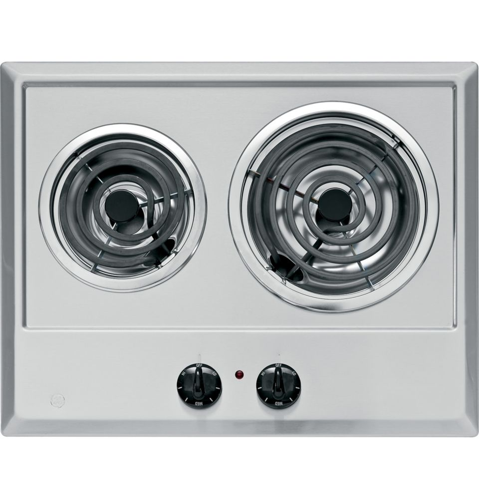 21-inch Built-In Electric Cooktop in Stainless Steel