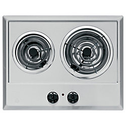 GE 21-inch Built-In Electric Cooktop in Stainless Steel