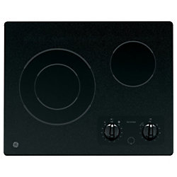 GE 21-inch Radiant Electric Cooktop in Black with 2 Elements