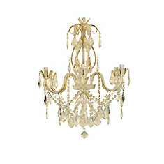 Hampton bay heritage antique white chandelier the home depot canada heritage antique white chandelier aloadofball Images
