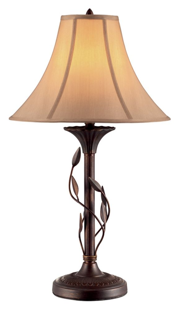 Hampton Bay Ivy Burnished Copper Table Lamp