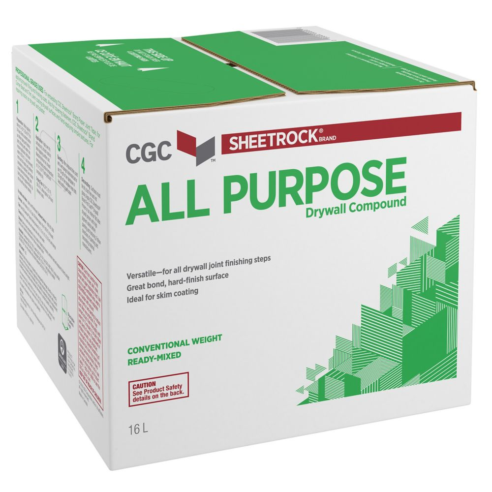 All Purpose Drywall Compound, Ready Mixed, 27 kg Carton