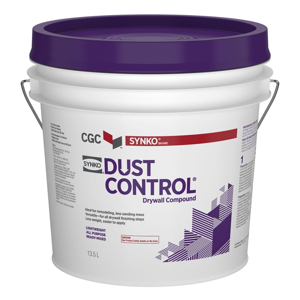DUST CONTROL Drywall Compound, Ready Mixed, 13.5 L Pail