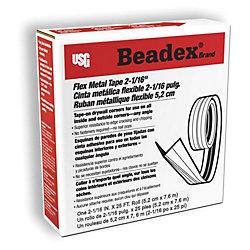 Beadex Ruban de métal flexible, 2-1/16 po x 25 pi, en rouleau