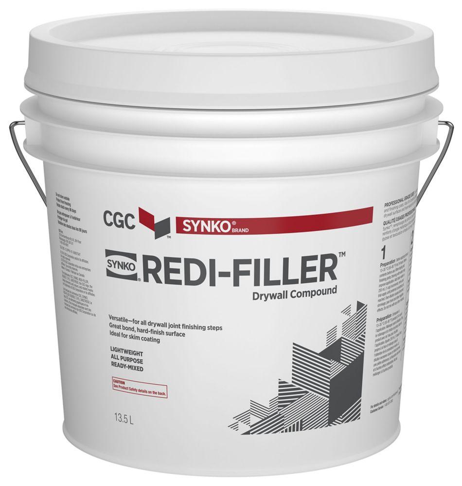 Composé de remplissage pour cloison sèche tout usage Redi-Filler prêt à l'emploi, seau de 13,5li...