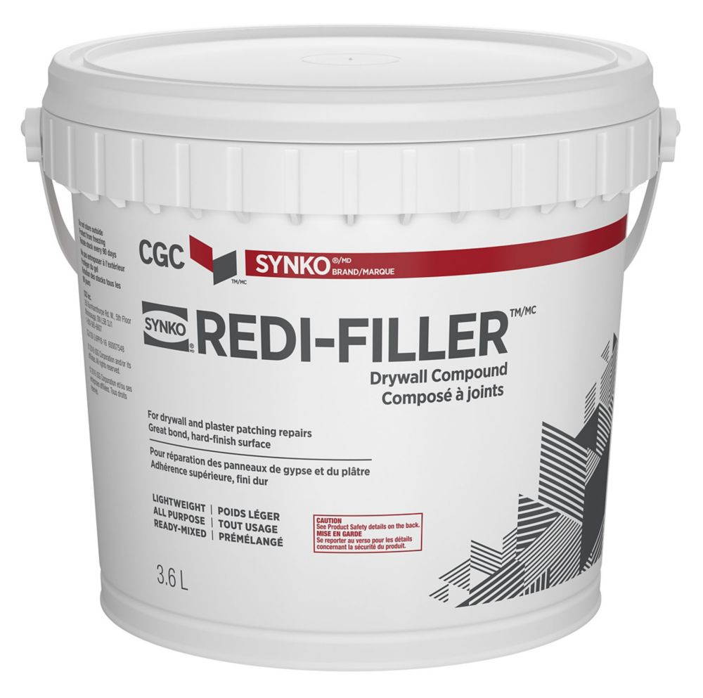 Redi-Filler All Purpose Drywall Compound, Ready Mixed, 3.6 L Pail