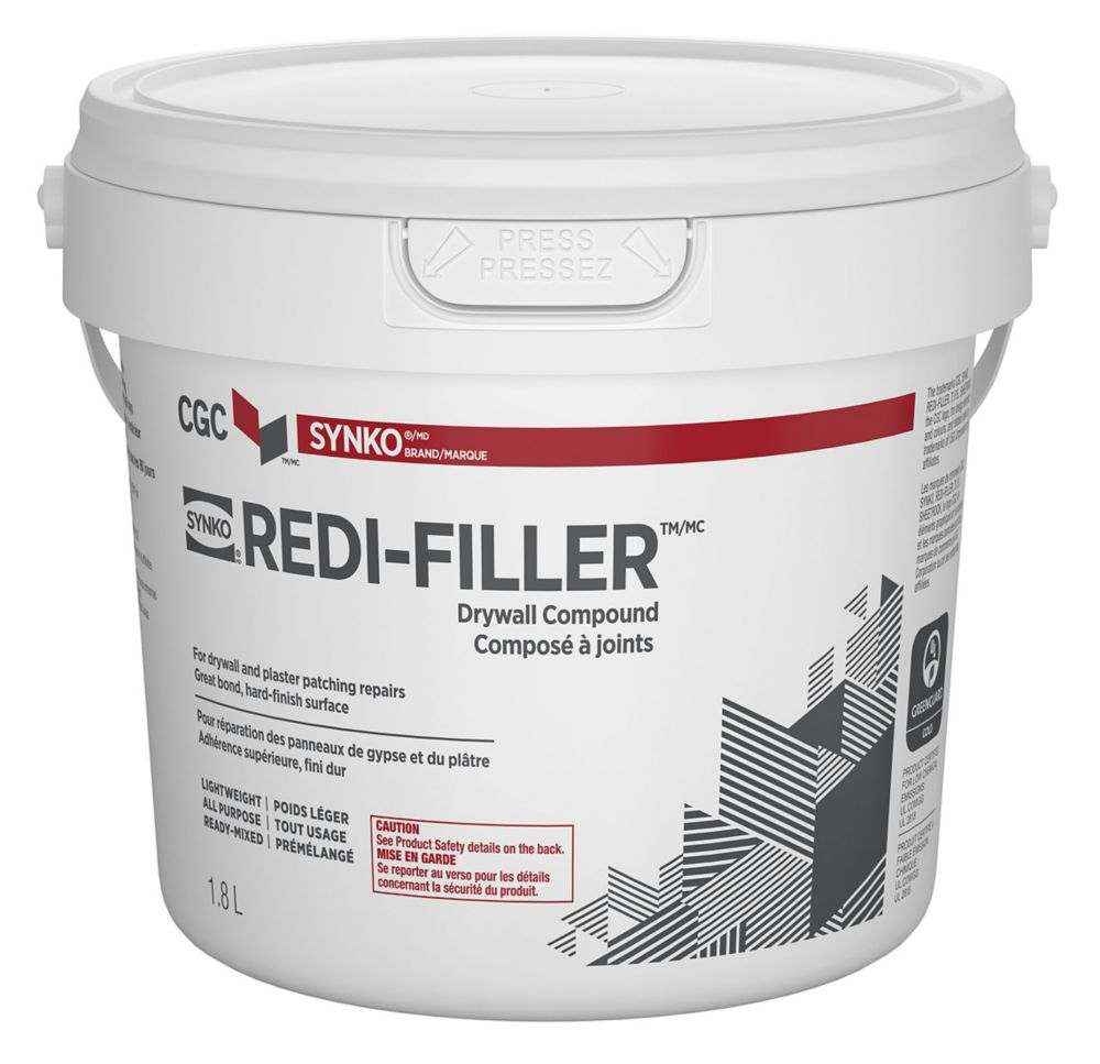 Redi-Filler All Purpose Drywall Compound, Ready Mixed, 1.8 L Pail