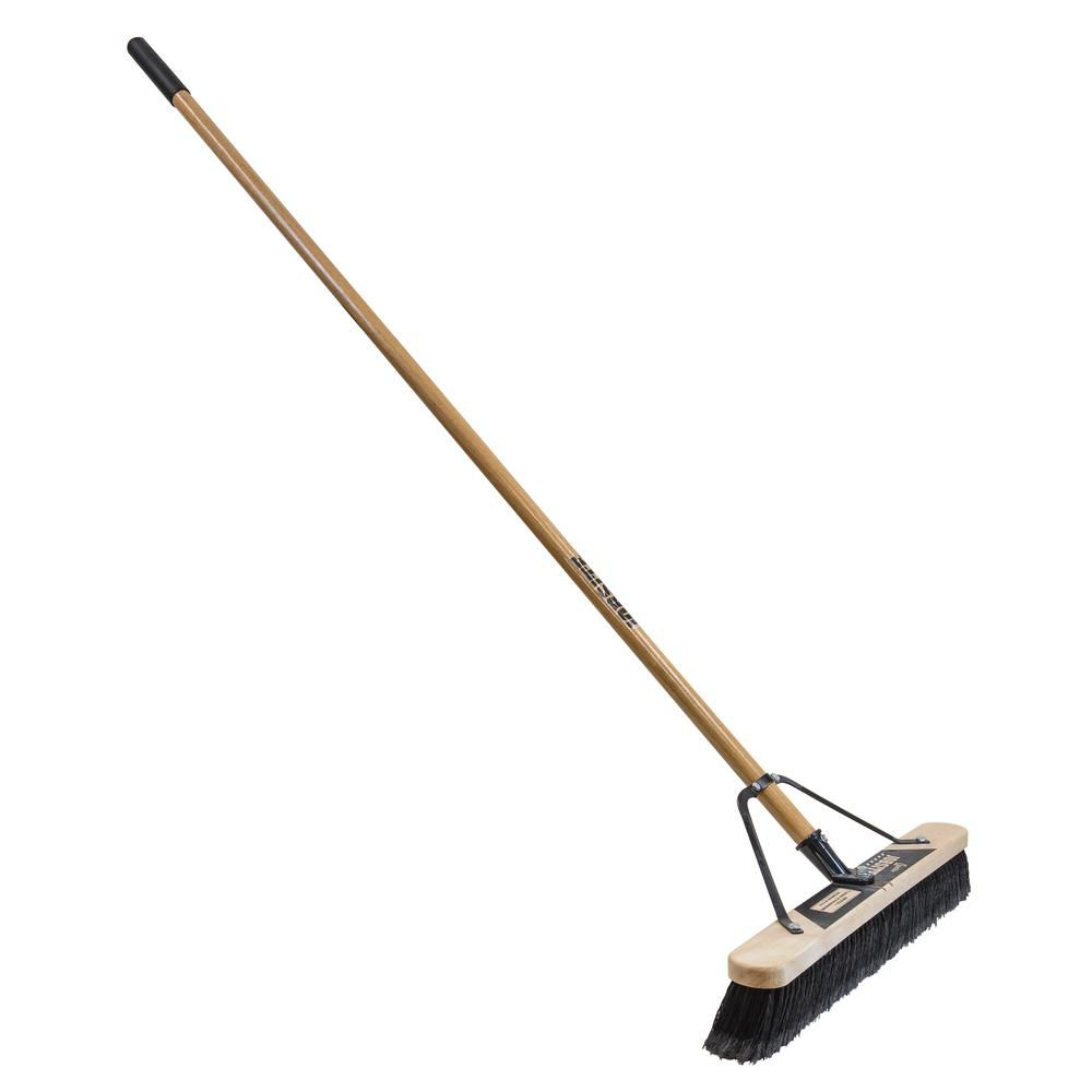 Job Site 24in. Soft Sweep Pushbroom-Set Up
