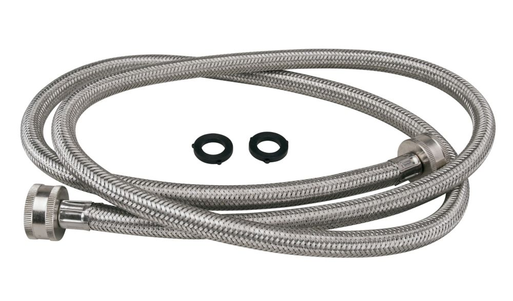 moen washing machine hose 5 39 stainless steel the home depot canada. Black Bedroom Furniture Sets. Home Design Ideas