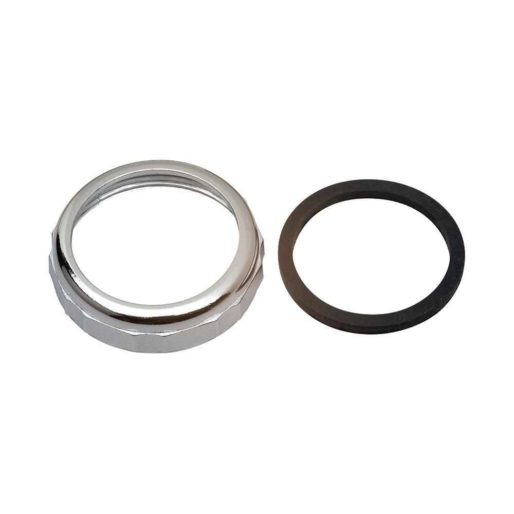 "Moen 1-1/2"" Slip Joint Nut and Washer - Chrome"