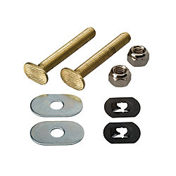 MOEN Toilet Floor Bolt Set - Solid Brass