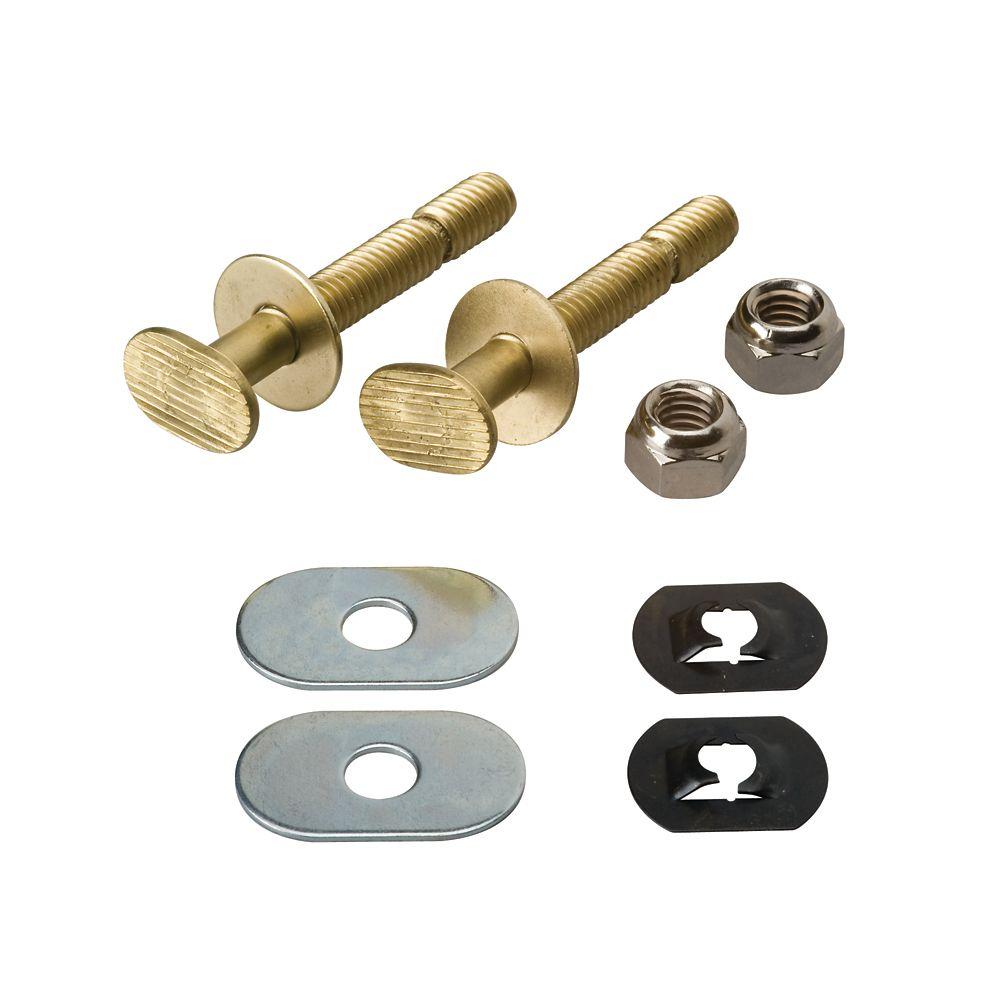 EZ Snap Toilet Floor Bolt Set  - Solid Brass