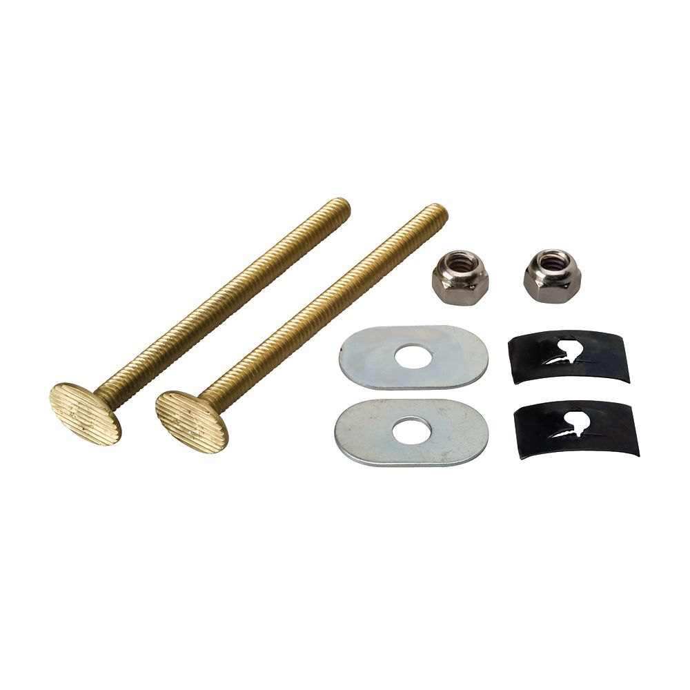Extra Long Toilet Floor Bolt Set  - Solid Brass