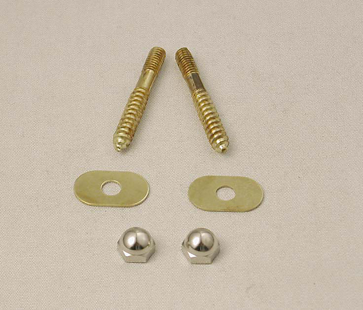 Toilet Floor Screw Set  - Solid Brass