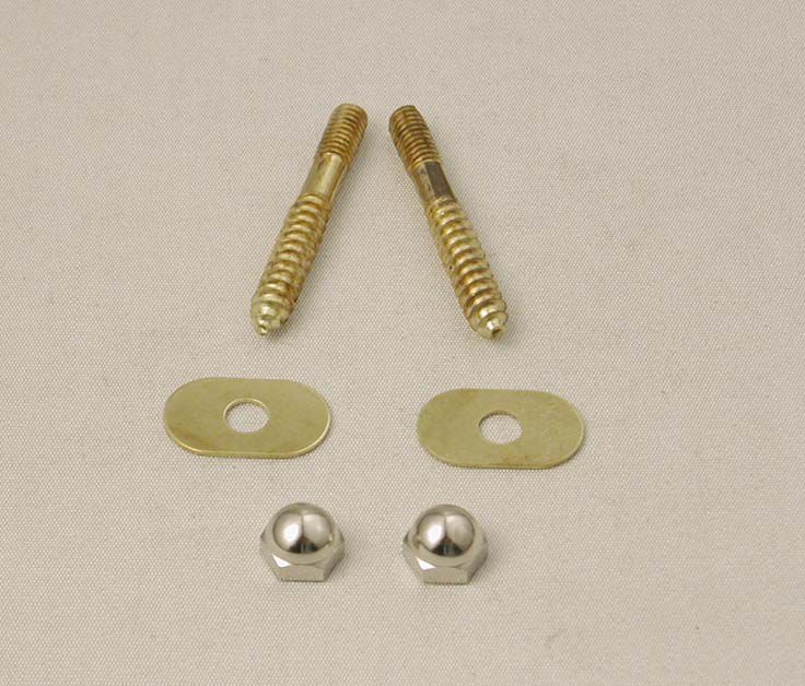 Moen Toilet Floor Screw Set  - Solid Brass